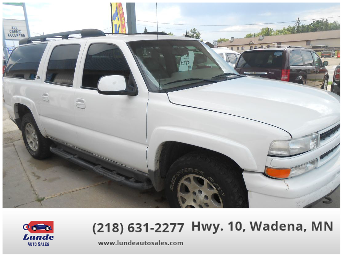 used chevrolet suburban 1500 2003 for sale in wadena mn lunde auto sales lunde auto sales